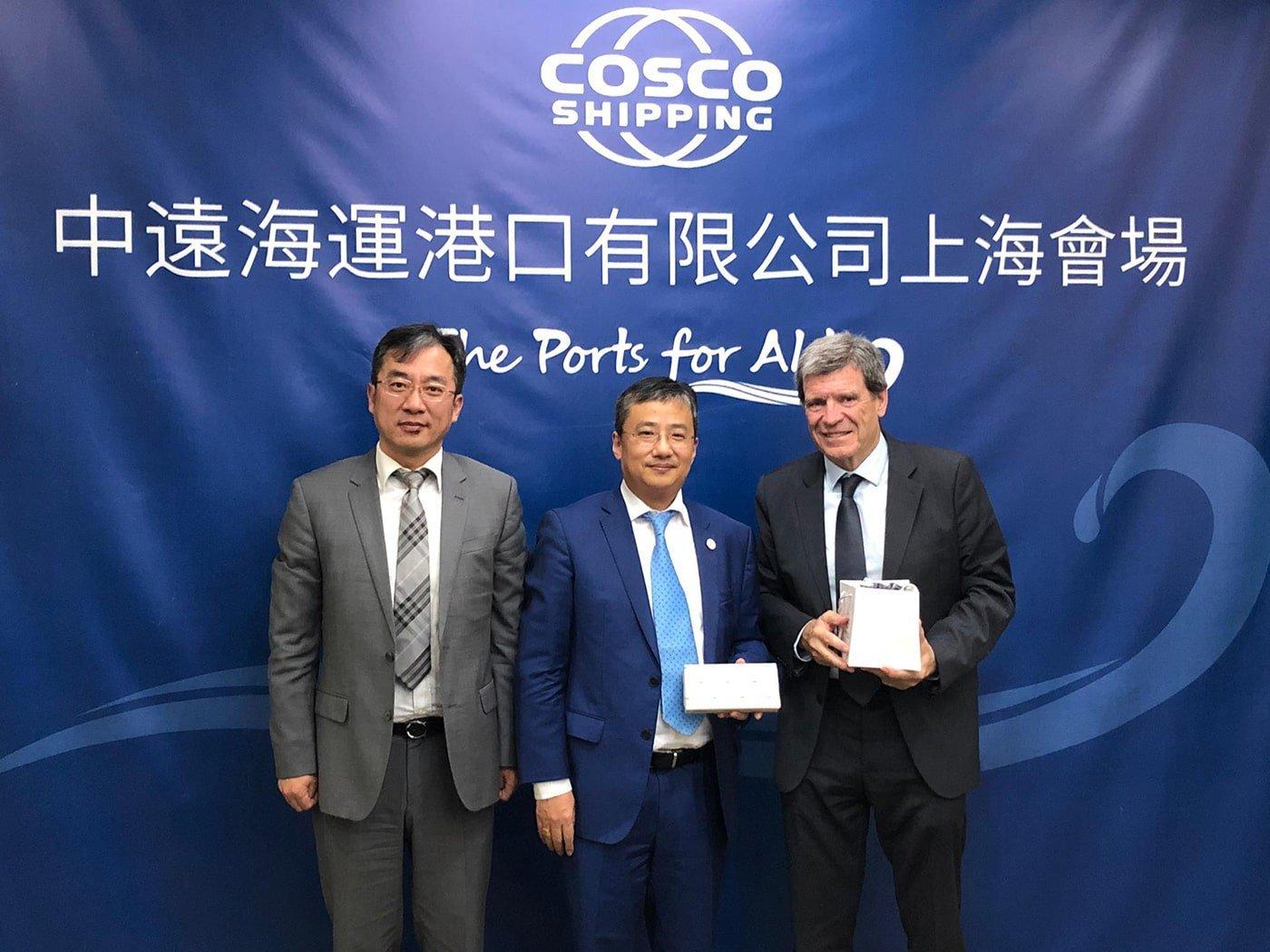 Cosco manifiesta su compromiso con el puerto de Valencia - El Canal Marítimo y Logístico