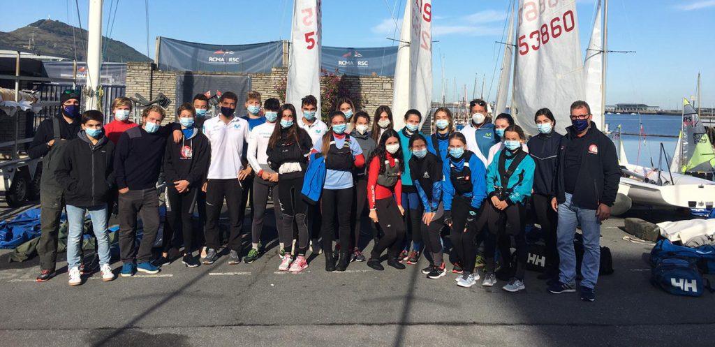 equipo olimpico 470 1024x497 - Trofeo Presidente y entrenamiento olímpico en el Abra de Bilbao