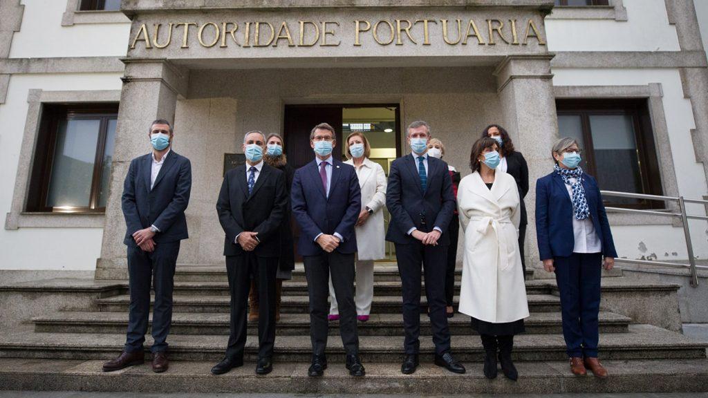 toma posesin touris exterior min 1024x576 - Toma de posesión de los presidentes de los puertos de Vigo y Vilagarcía