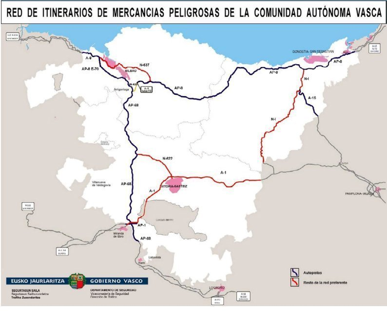 Red Rimm - Restricciones para la circulación de camiones en País Vasco