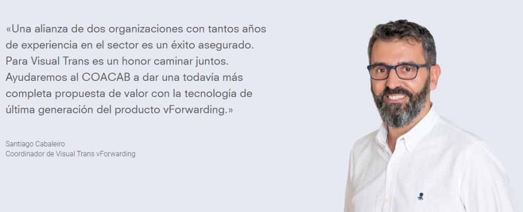 Santiago Cabaleiro VisualTrans 1024x417 - El Colegio de Agentes de Aduanas de Barcelona y Visual Trans unen sinergias